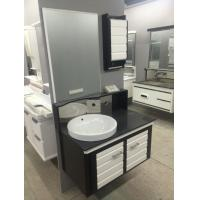 Quality Round Type Floating Bathroom Vanities with top 15mm pvc panel zince alloy handel for sale