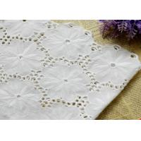 Wholesale Swiss Voile 100% Cotton Lace Fabric , Embroidery Guipure Lace Fabric For Lady Dress from china suppliers