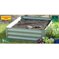 Wholesale Silver Portable Steel Raised Garden Beds / Metal Garden Bed For Flower / Veggies from china suppliers
