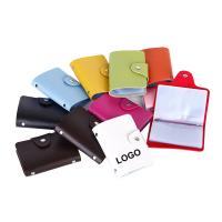 Wholesale Colorful PU Bank Card Bags Card Container Business Bags Logo Customized from china suppliers