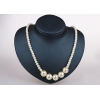 Quality Trendy Single Strand Costume Pearl Necklace , Off White Plastic Pearl Necklace for sale