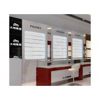 Wholesale Eyeglasses Shop Glass Display Wall Cabinet With LED Light , Jewellery Display Cabinets from china suppliers