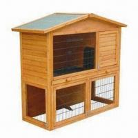 Wholesale Rabbit Hutch, Double Layers and Easy to Assemble, Sized 135 x 65 x 114cm from china suppliers