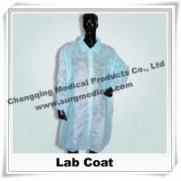 Wholesale Medical Scrub Uniforms Non Woven Lab Coat Comfortable Round / V shape Neck , Disposable Surgical Gowns from china suppliers