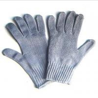 Wholesale Personalised Grey Cut Resistant Seamless Fabric Knitted Cotton Hand Gloves from china suppliers