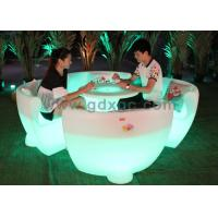 Wholesale Round Outdoor LED BarFurniture Glowing Rechargeable RGB Light from china suppliers