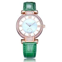 Wholesale Fashion  Ladies / Girls Alloy Wrist Watch Water Resistant With Leather Strap , OEM Service from china suppliers