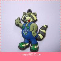 Quality cartoon keychain, rubber keychain, handmade rubber key ring, pvc product for sale