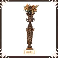 Wholesale Elegant latest new resin tall floor vases Resin Roman column floor vase A0252G-4+8812G-4 from china suppliers