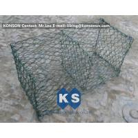 Wholesale Hexagonal Mesh PVC Gabions , Welded Coated Galvanized Gabion Baskets from china suppliers