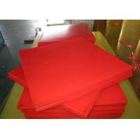 Wholesale Bendable Virgin Polyurethane Plastic Sheets For Paper Making , Red PU Sheets from china suppliers