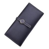 Wholesale Women PU Leather Money Clip Wallet Durable Hardware Buckle With Polyester Lining Material from china suppliers