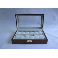 Wholesale Customized Solid Wooden Watch Boxes With Hinged Lid , Retro Style from china suppliers