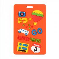 Wholesale 2014 Popular custom rubber Baggage Tag from china suppliers
