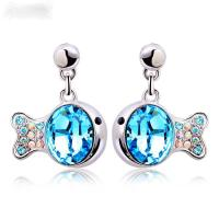 Wholesale Ref No.: 405013 Crystal clownfish earring Elements Swarovski sale in store high quality costume jewelry wholesale from china suppliers