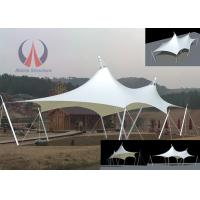 Wholesale Cable Membrane Patio Shade Structures , Steel Roof Contemporary Shade Structures For Square from china suppliers