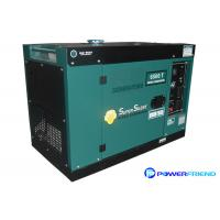 Wholesale AC Single Phase 220V Small Portable Generators With Wheels Diesel Genset 5kva from china suppliers