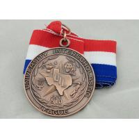 Wholesale University Ribbon Medals , Die Casting , 3D And Antique Copper Plating For Gift from china suppliers