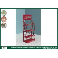 Wholesale Metal Oil Display Rack In Shop Free Standing Bottle Red Black from china suppliers