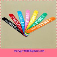Wholesale make silicone rubber slap bracelet supplier from china suppliers