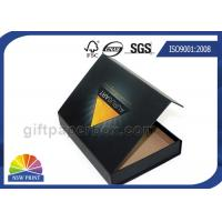 China Matte Black Hinged Lid Gift Box Paper Packaging Box Customized Glossy on sale