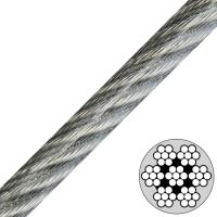 Quality 7x7 Vinyl Coated Steel Cable , Type Ss 302/304 stainless steel wire rope for sale