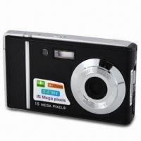 Buy cheap 15MP Digital Camera with 2.4-inch TFT LCD, 8MP CMOS, Rechargeable Li-ion Battery and Video Recorder from wholesalers