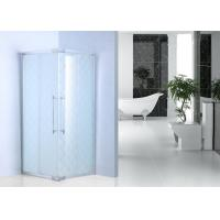 Wholesale Frost Glass Bathroom Shower Enclosures Square Shower Cabins With Chrome Profile from china suppliers