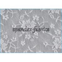 Wholesale Variety Nylon Lycra White Lace Fabric With Four Way Stretch , 88% Nylon 12% Spandex from china suppliers