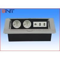 Wholesale Silver Pneumatic Meeting Table Standard Power Socket Pop Up 265*130*65 Mm from china suppliers