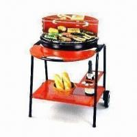 Buy cheap 22-inch Barbecue Grill in Wagon Type, with Chrome-plated Cooking Grill and Warming Rack from wholesalers
