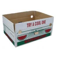 Wholesale Custom Vegetables Packing Boxes , Cardboard Fruit Boxes Offset / Flexo Printing from china suppliers
