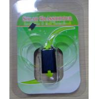 Quality Green Plastic Solar Powered Gadgets Mini Grasshopper Educational Toy for Kids for sale