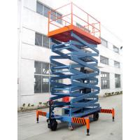 Quality 8m electric mobile hydraulic scissor lift with motorized device , 450Kg loading for sale
