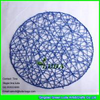 Wholesale LUDA decorative place mat colorful round paper straw placemat from china suppliers