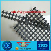 Wholesale high tensile strength polyester geogrid with 40kn/m for road construction from china suppliers