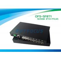 Quality 8×1 Fiber Optic Switch 100BASE - Fx 1 10 / 100BASE - Tx  DF SM 1310nm 20KM SC for sale