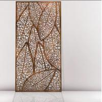 Quality PVDF Decorative Laser Cut Screen / room divider decoration laser cut panel for sale