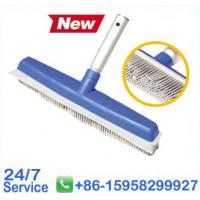 "Quality 13"" Injection Soft Bristle Brush with Scrubber Swimming Pool Brush - T671 for sale"