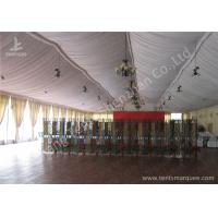 Wholesale Transparent Glass Wall Aluminum Profile Wedding Event Tent , White Roof Lining Decoration from china suppliers