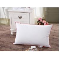 Wholesale 75% Duck Down Feather Pillow Cotton Red Piping For Home Hotel Pillow Insert from china suppliers