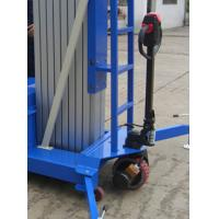 Wholesale Electrical Pulling Device Aerial Work Platform Aluminum Type With Lifting Height 14m Quadruple Mast 300Kg from china suppliers