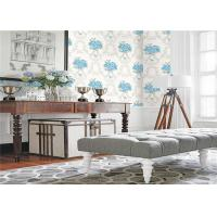 Paper Backed PVC Vinyl Wallpaper Flower Images With Light Embossing , 0.53*10m Roll