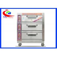 Wholesale Commercial Baking Equipment / Commercial pie baking machine 3 decks 9 trays electric pizza oven with wheel from china suppliers