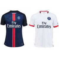 Wholesale Mens Soccer Jerseys PSG Paris Saint - Germain Ibrahimovic Home Blue Thai from china suppliers