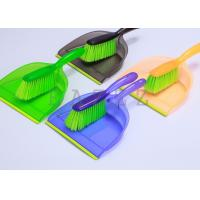 Wholesale Deluxe Transparent Long Handled Dustpan and Brush set Green Fiber from china suppliers