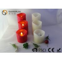 Quality Indoor Red Flameless Candles Led , Led Battery Operated Candles for sale