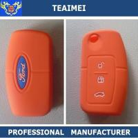 Wholesale Personalized Soft Ford Smart Remote Silicone Car Key Cover Orange from china suppliers