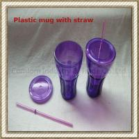Wholesale Plastic Mug With Straw (CL1C-E217) from china suppliers