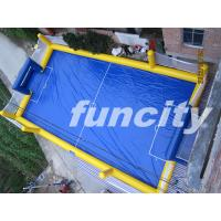 Wholesale Waterproof Adults Blue Inflatable Water Soccer Field Fire Retardant from china suppliers